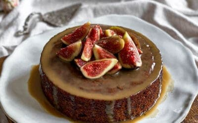 Sticky Date Pudding with Ricotta Fig & Honey